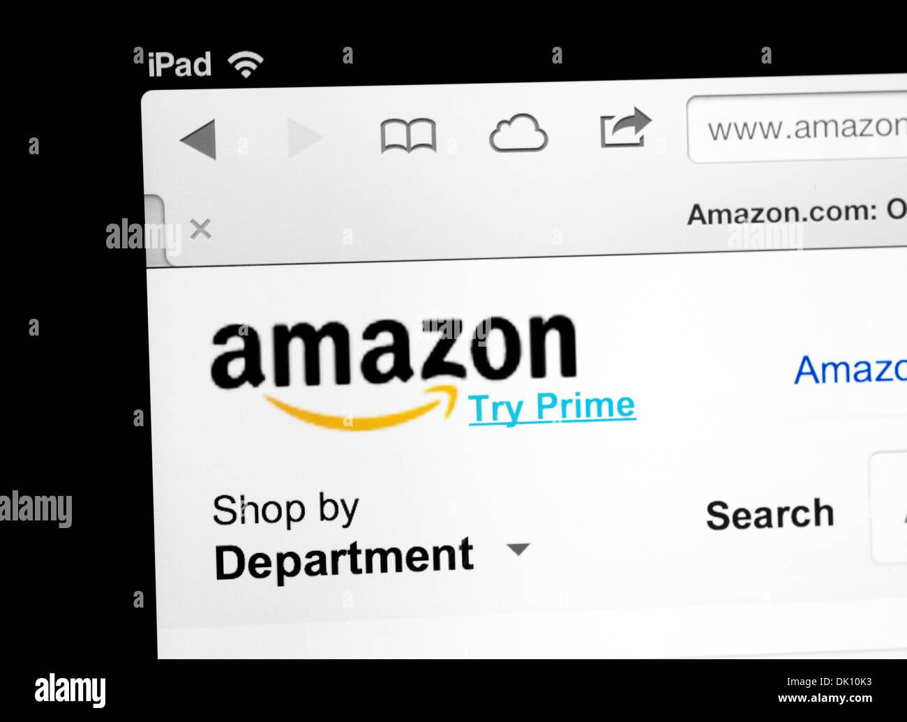 Site Web Amazon.com vue sur un iPad Photo Stock