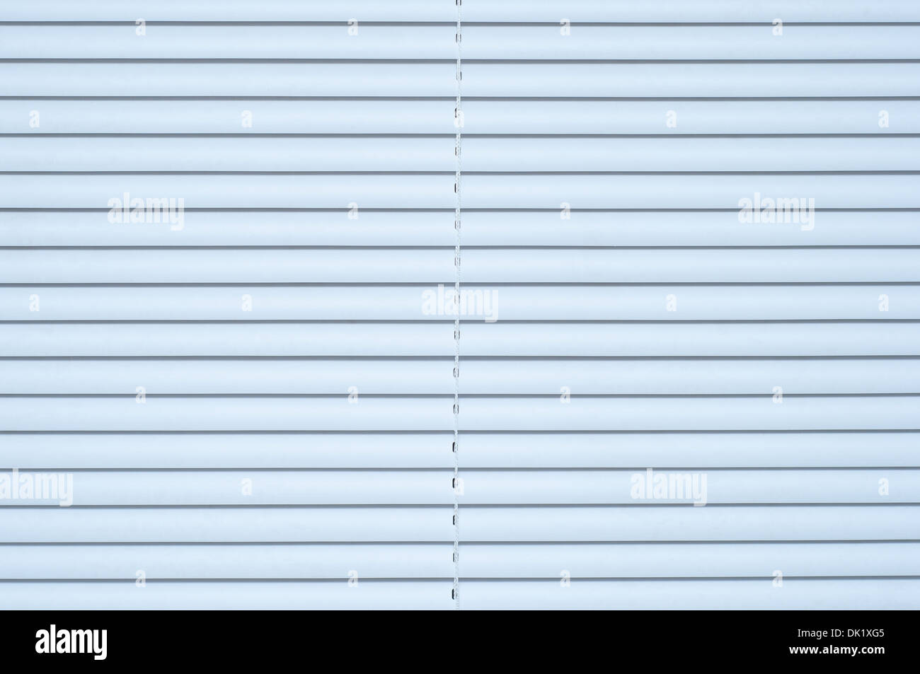 Mini blind vénitien blanc Photo Stock