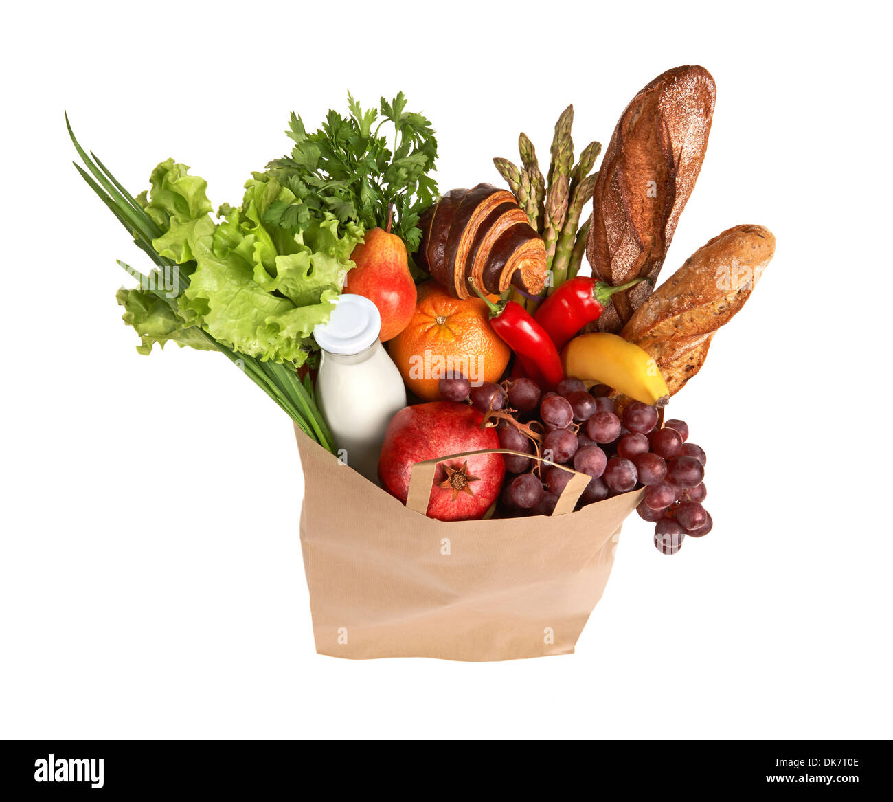 Eco friendly food shopping Photo Stock