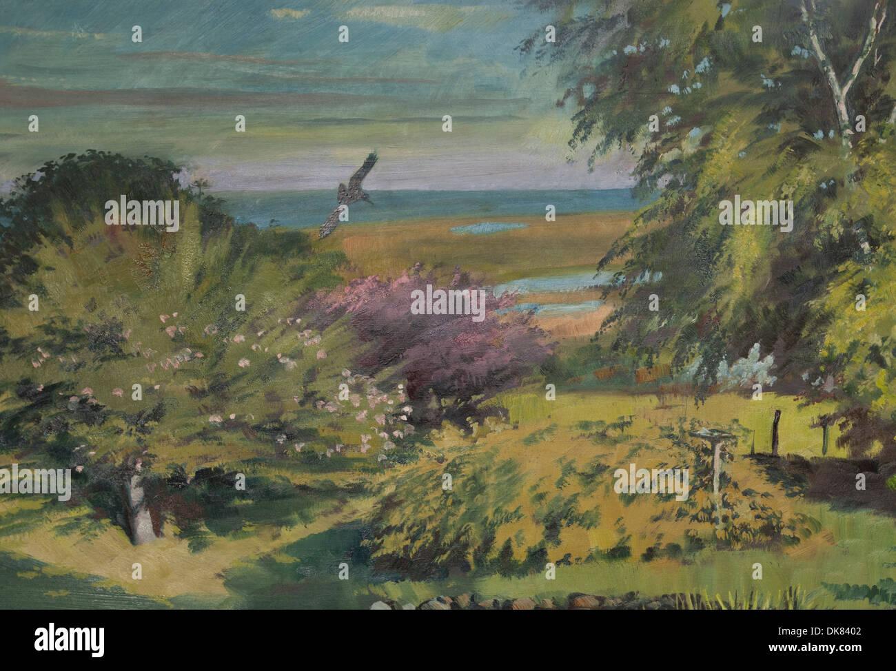 Un Jardin Anglais D Une Peinture A L Huile Banque D Images Photo