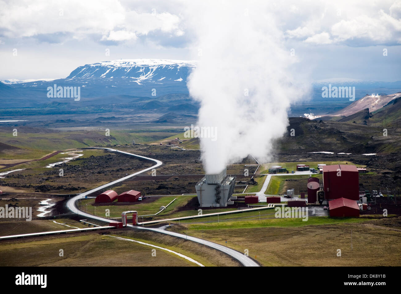 Kroflustoo, géothermique de Krafla, Islande Photo Stock