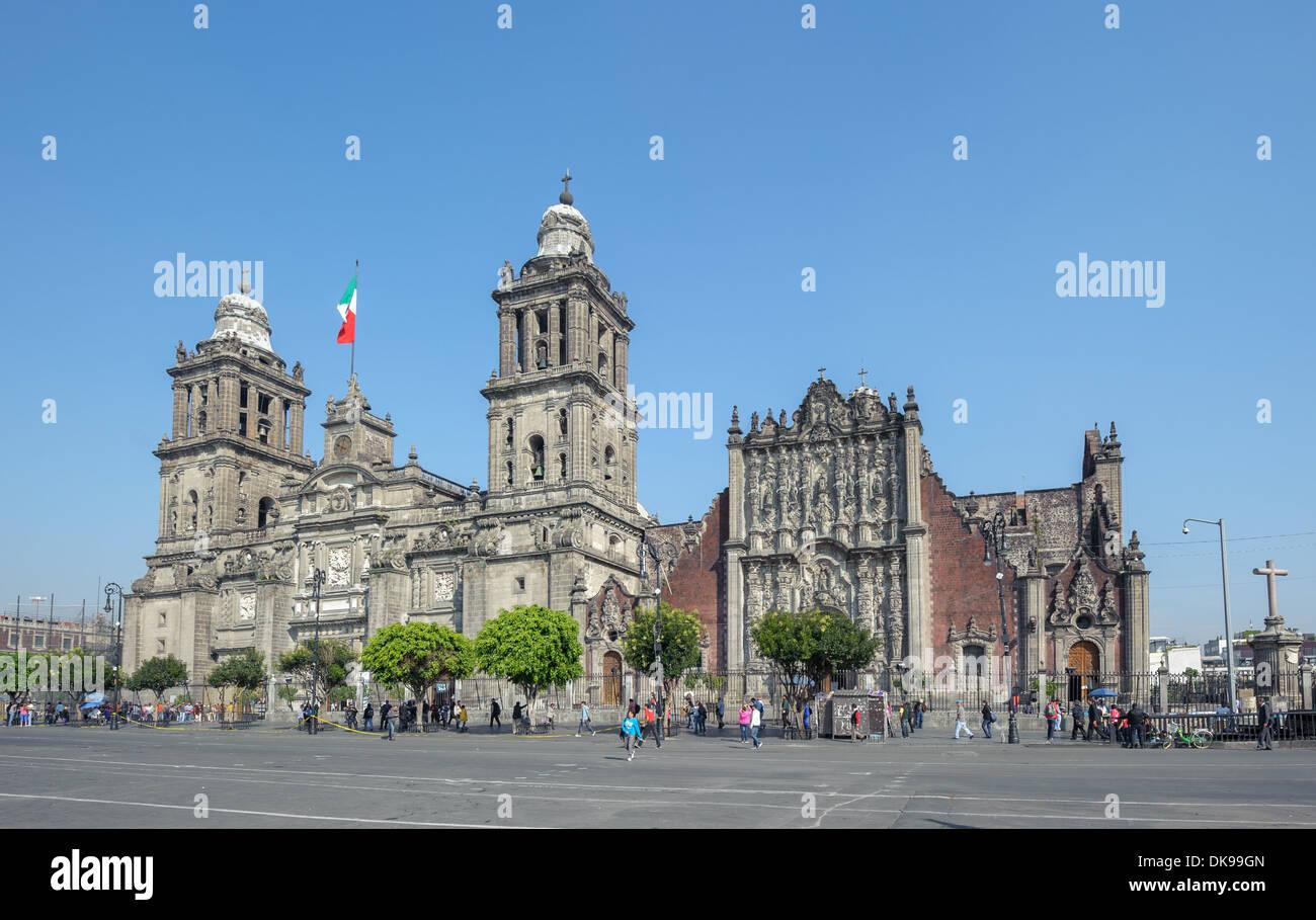 Cathédrale Métropolitaine de l'assomption de Marie de la ville de Mexico Photo Stock