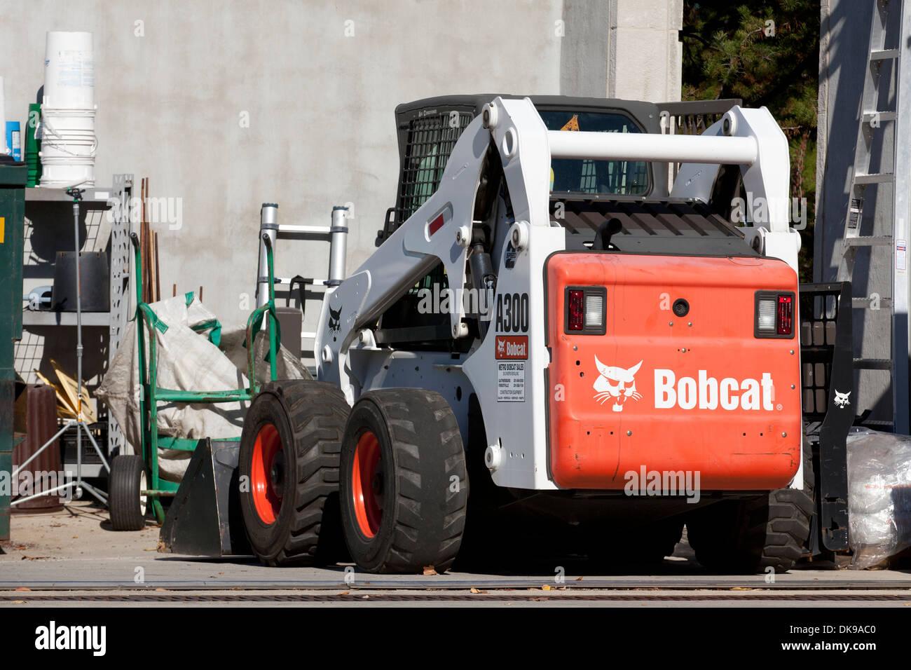 Mini-chargeuse Bobcat machine à chenilles Photo Stock