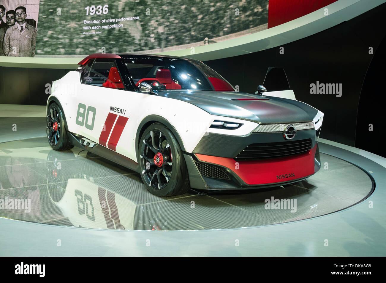 Nissan IDx Freeflow concept au Salon de l'automobile 2013 au Japon Photo Stock