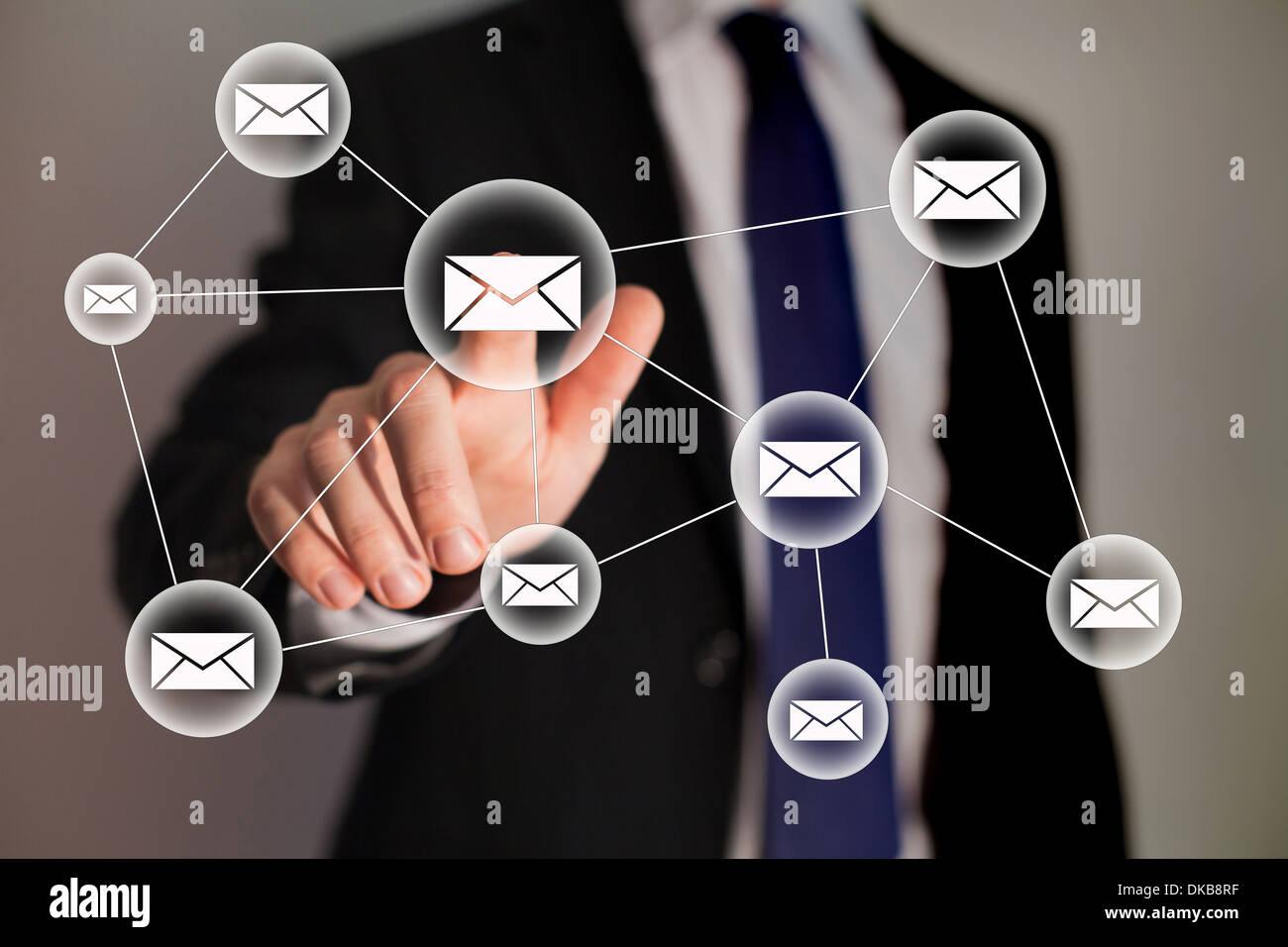 La technologie de l'entreprise et de messagerie Photo Stock