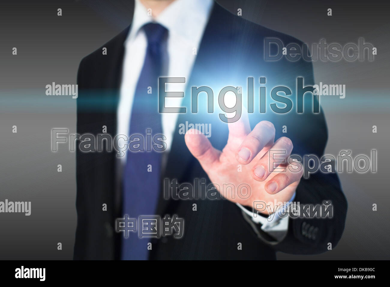 L'apprentissage de l'anglais, l'école de langue concept Photo Stock