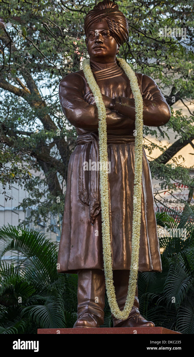 Close-up de Swami Vivekananda Statue à Bangalore. Photo Stock