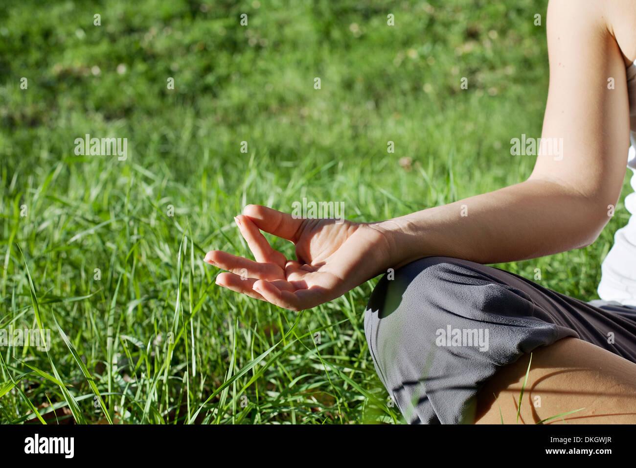fond d'yoga Banque D'Images