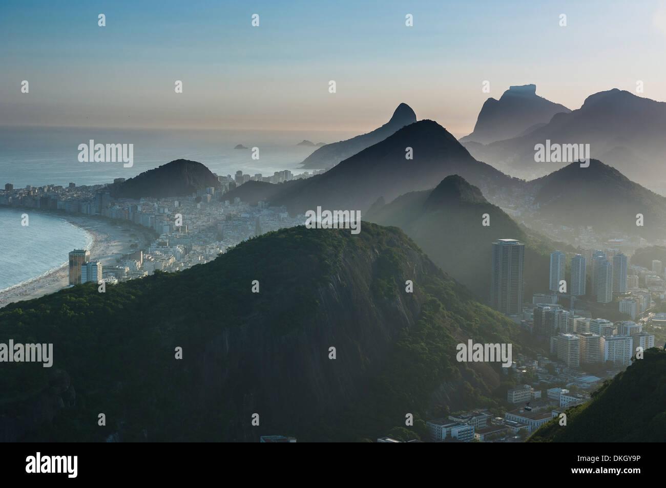 Vue depuis le Pain de Sucre, Rio de Janeiro, Brésil, Amérique du Sud Photo Stock
