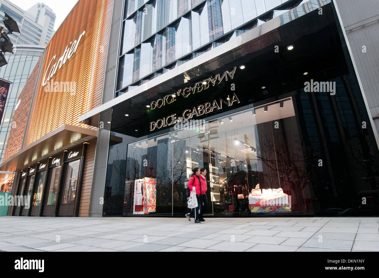 e76104f93a2d7 Dolce   Gabbana en magasin Plaza 66 bureau commercial et d habitation à  West Nanjing Road - la célèbre rue commerçante de Shanghai, Chine