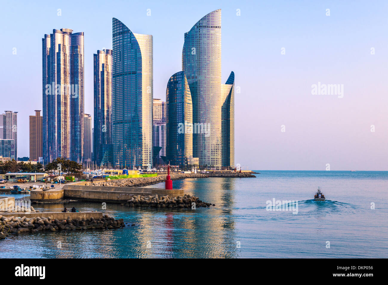Busan, Corée du Sud dans le district urbain de Haeundae. Photo Stock