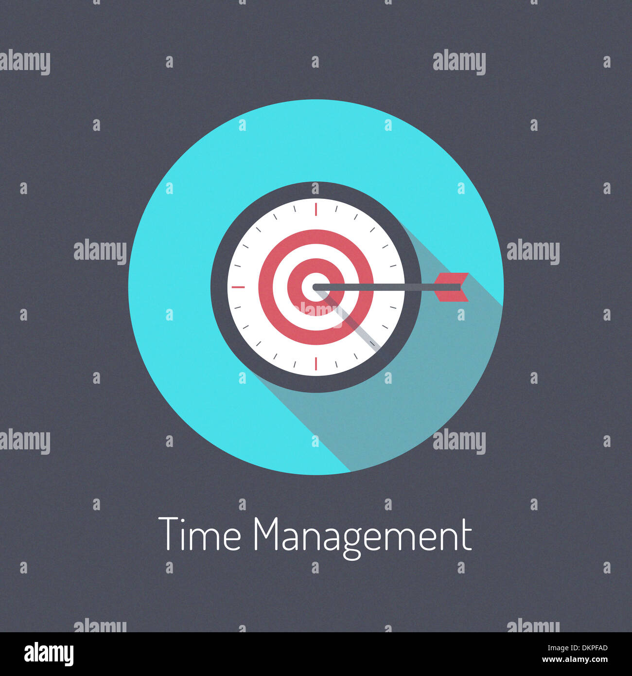 Modèle plat illustration moderne poster concept de processus de planification de gestion du temps et d'affaires est de l'argent temps métaphore Photo Stock