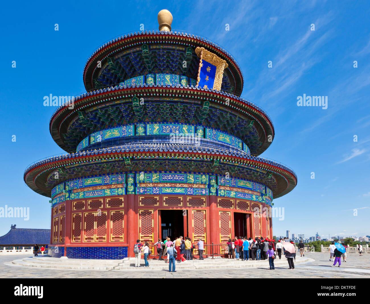 Tian Tan, Temple du Ciel, Qinian Dian temple, Beijing, Chine, République populaire de Chine, l'Asie Photo Stock