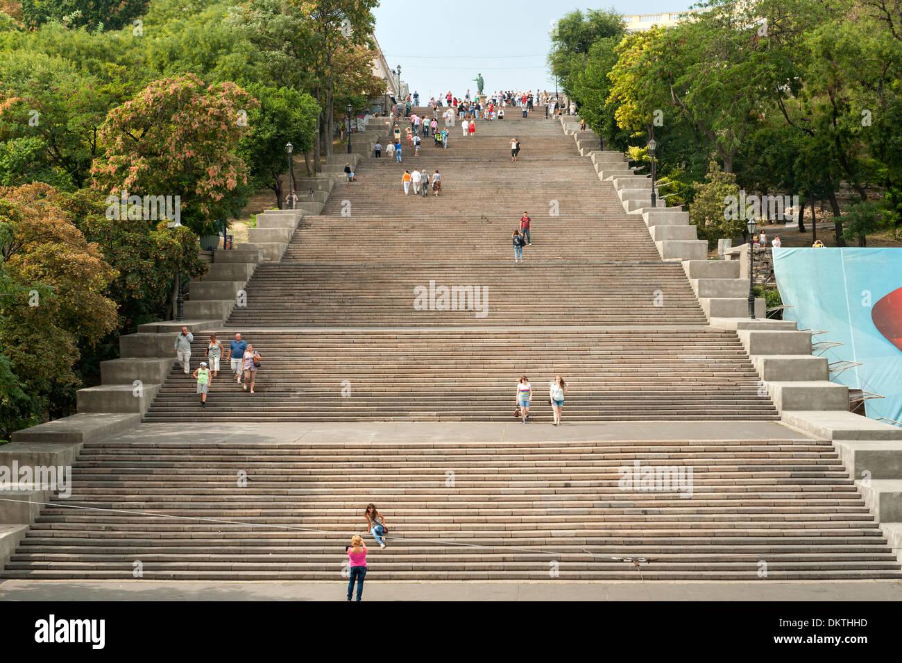 L'Escalier de Potemkine, un escalier géant à Odessa, Ukraine. Photo Stock