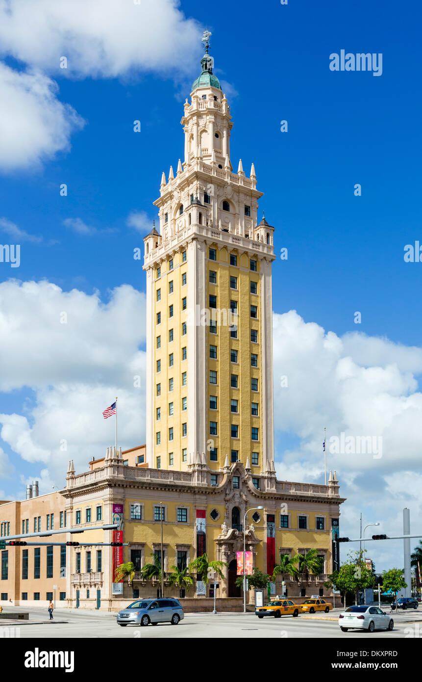 La tour de la liberté sur le Boulevard Biscayne au centre-ville de Miami, Floride, USA Photo Stock