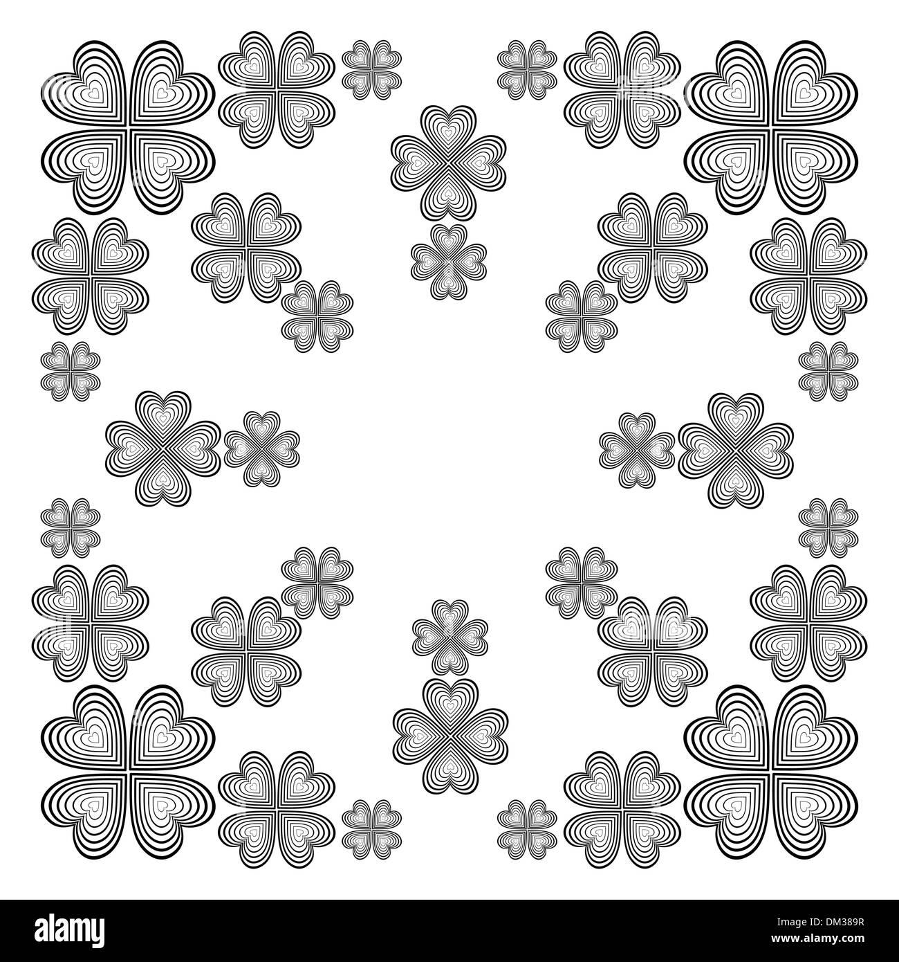 Abstract vector illustration monochrome Illustration de Vecteur