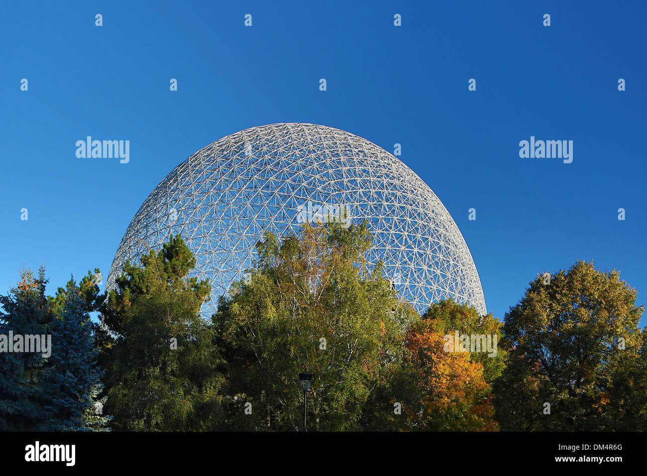 Biosphère, Canada, Amérique du Nord, de l'environnement, Ville de Montréal, Québec, l'architecture, ville, musée, voyages, Biosphère, rond Photo Stock