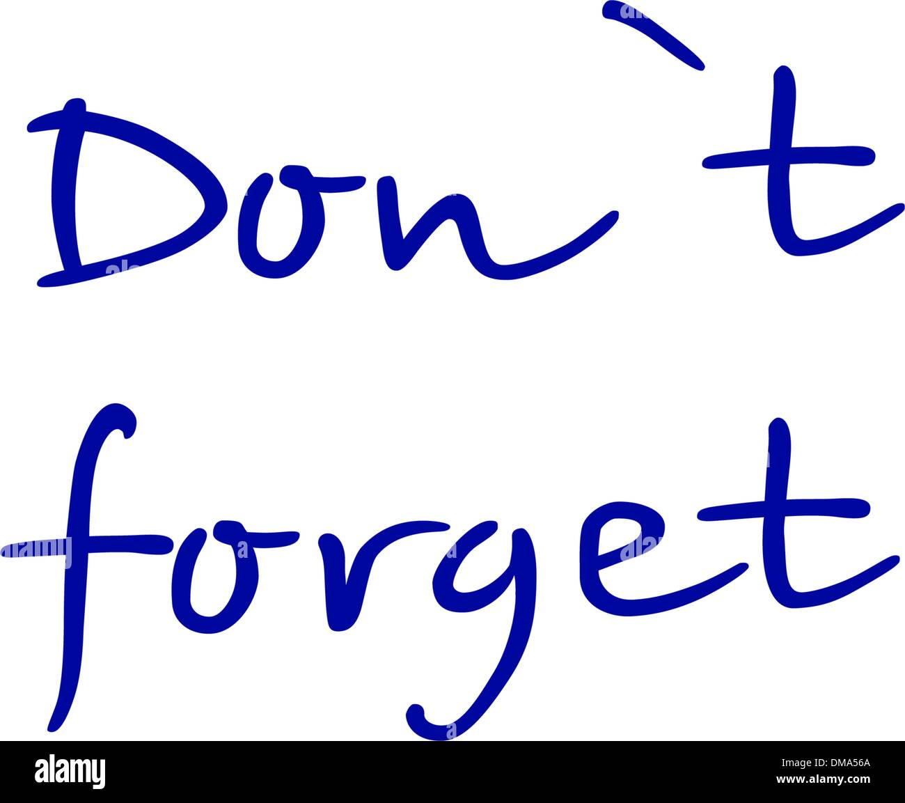 N'oubliez pas. EPS 8 Photo Stock