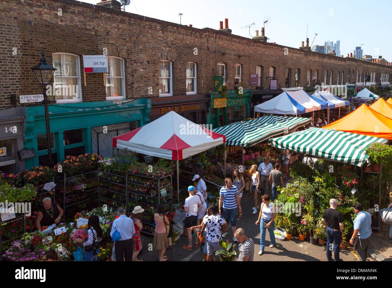 Columbia Road Flower Market, East London Photo Stock