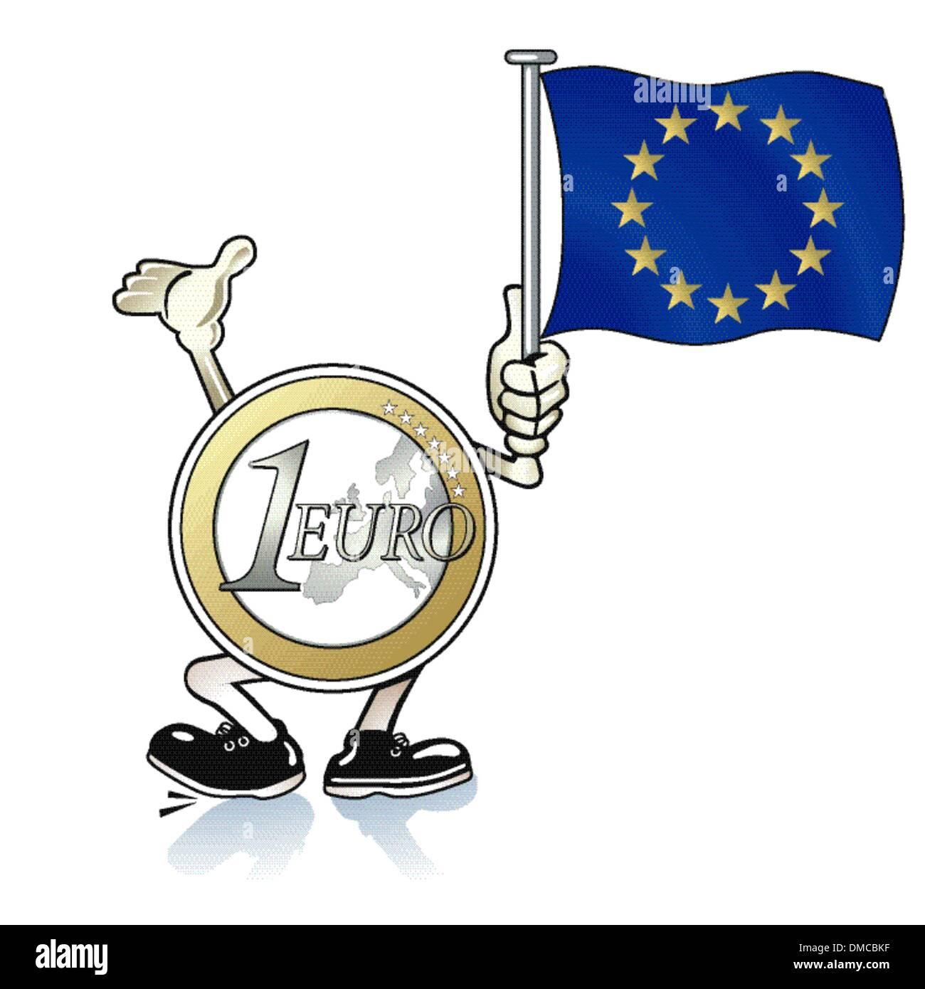 Aide de l'euro Photo Stock