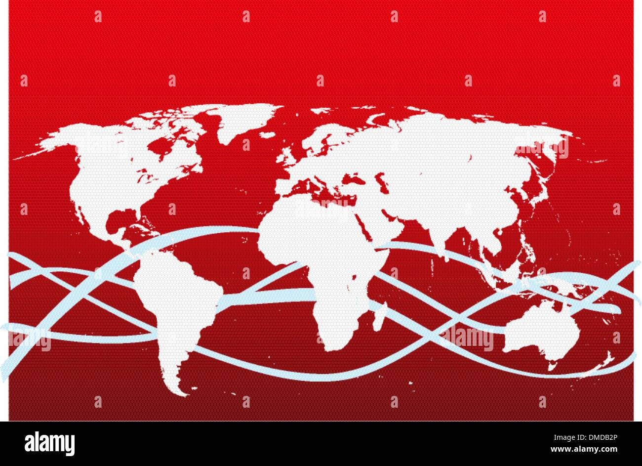 Carte du monde avec des continents Photo Stock