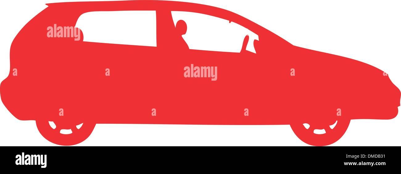 Silhouette de voiture Photo Stock