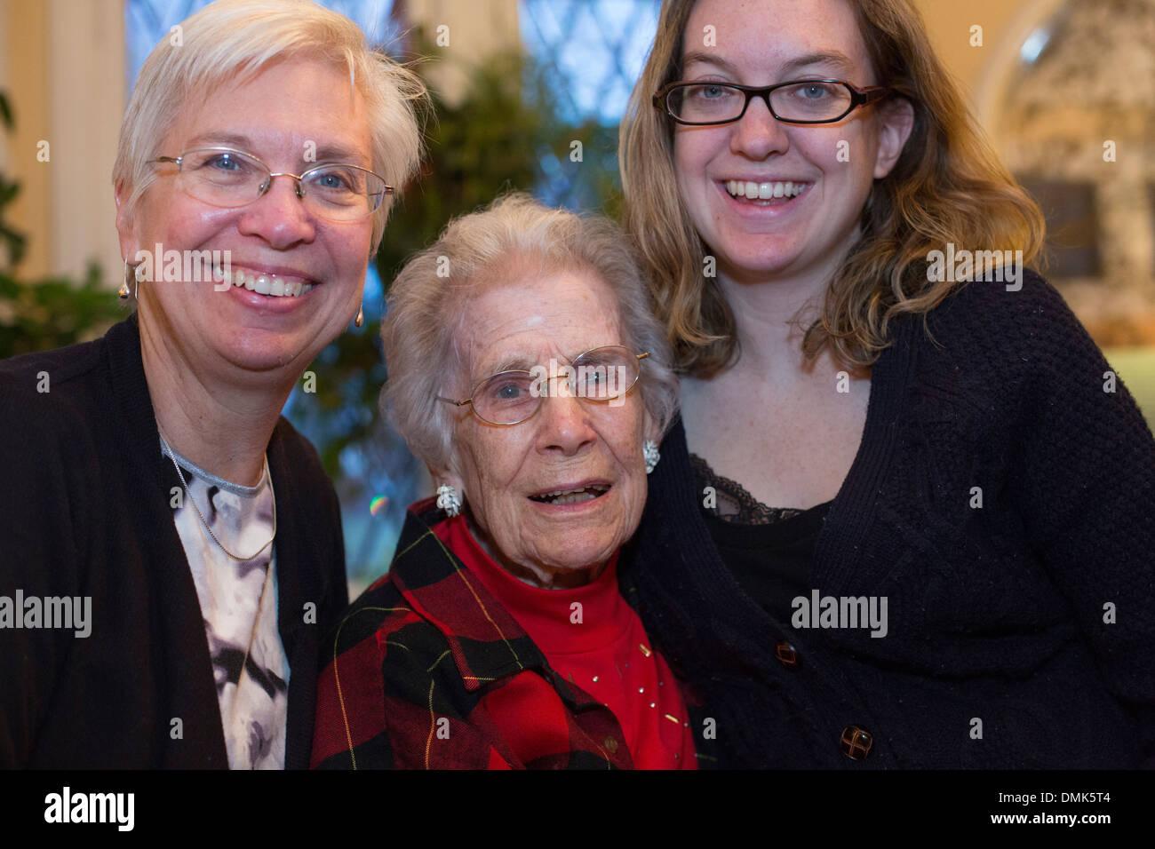 Trois générations de femmes de la même famille. Photo Stock