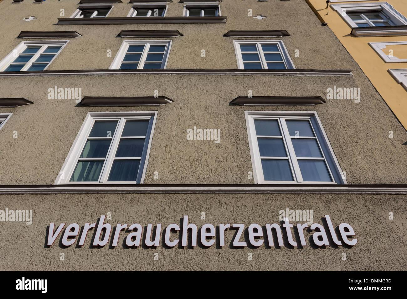 Germany, Bavaria, Landshut, centre de conseils aux consommateurs Photo Stock