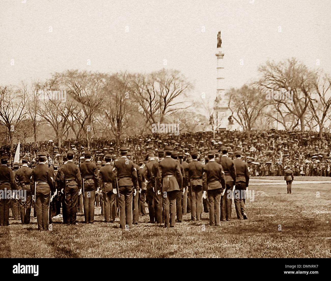 USA Boston Parade le bénévolat de l'École Latine pre-1900 Photo Stock