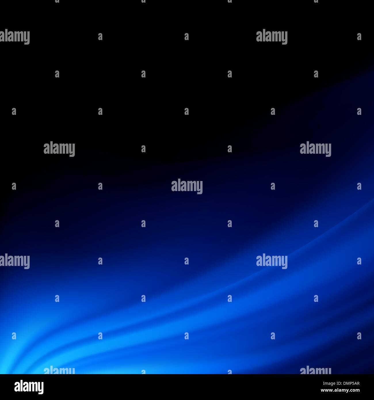 Lisse bleu twist lignes de lumière arrière-plan. EPS 8 Photo Stock