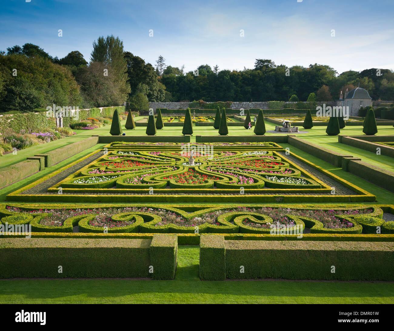 National Trust ecosse jardin formel pitmedden Photo Stock