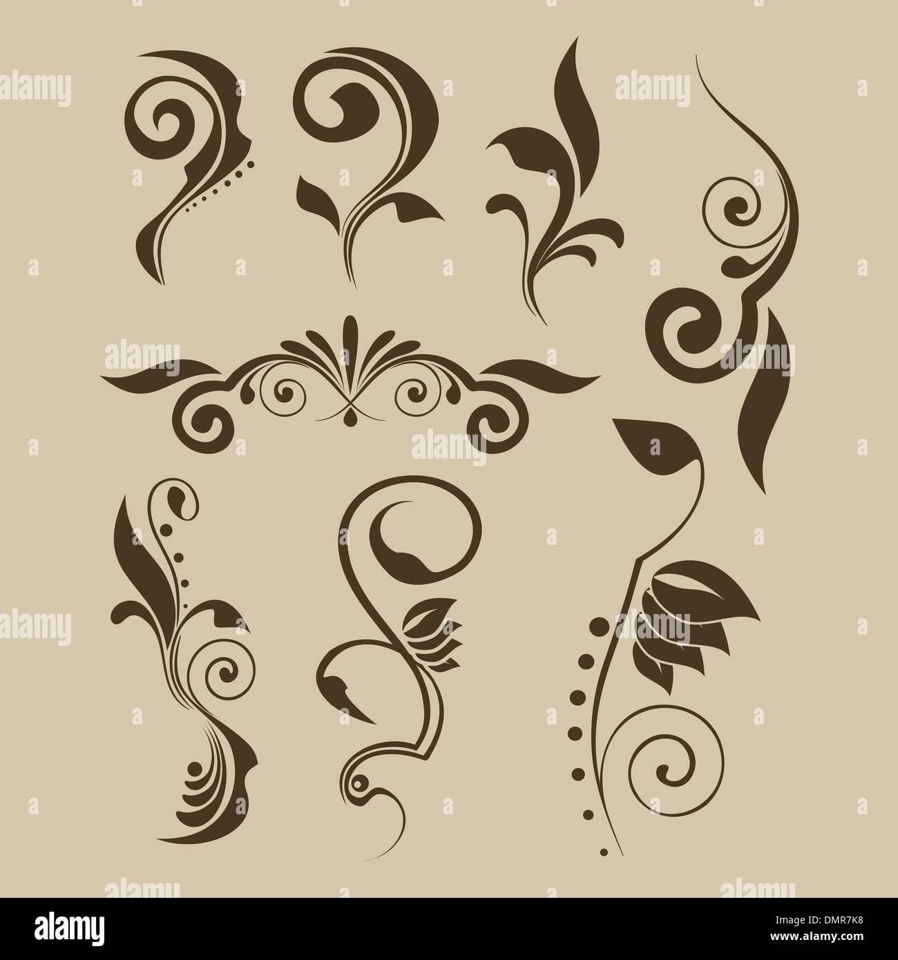 Ensemble de motifs vectoriels pour la conception Photo Stock