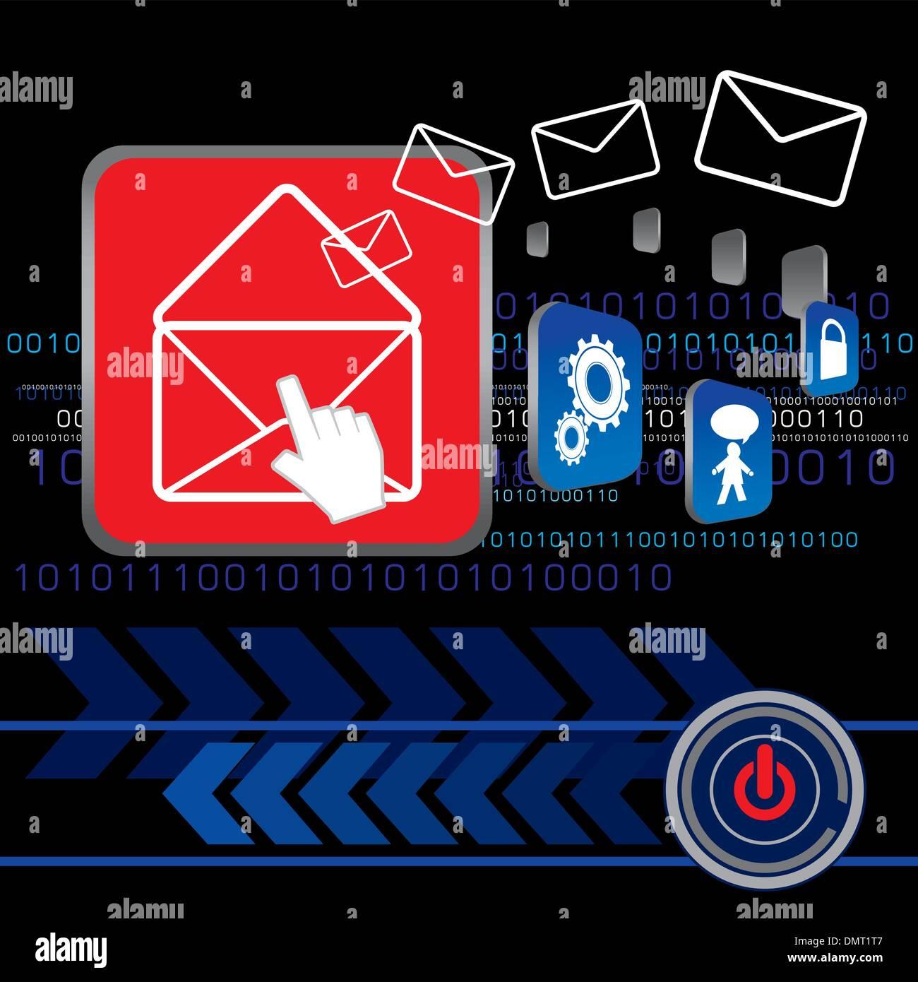 Envoyer un message électronique Photo Stock