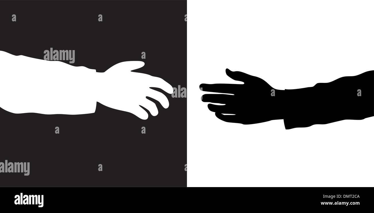 Deux mains vector Illustration de Vecteur