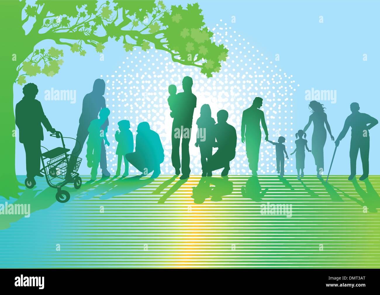 Générations de familles Photo Stock