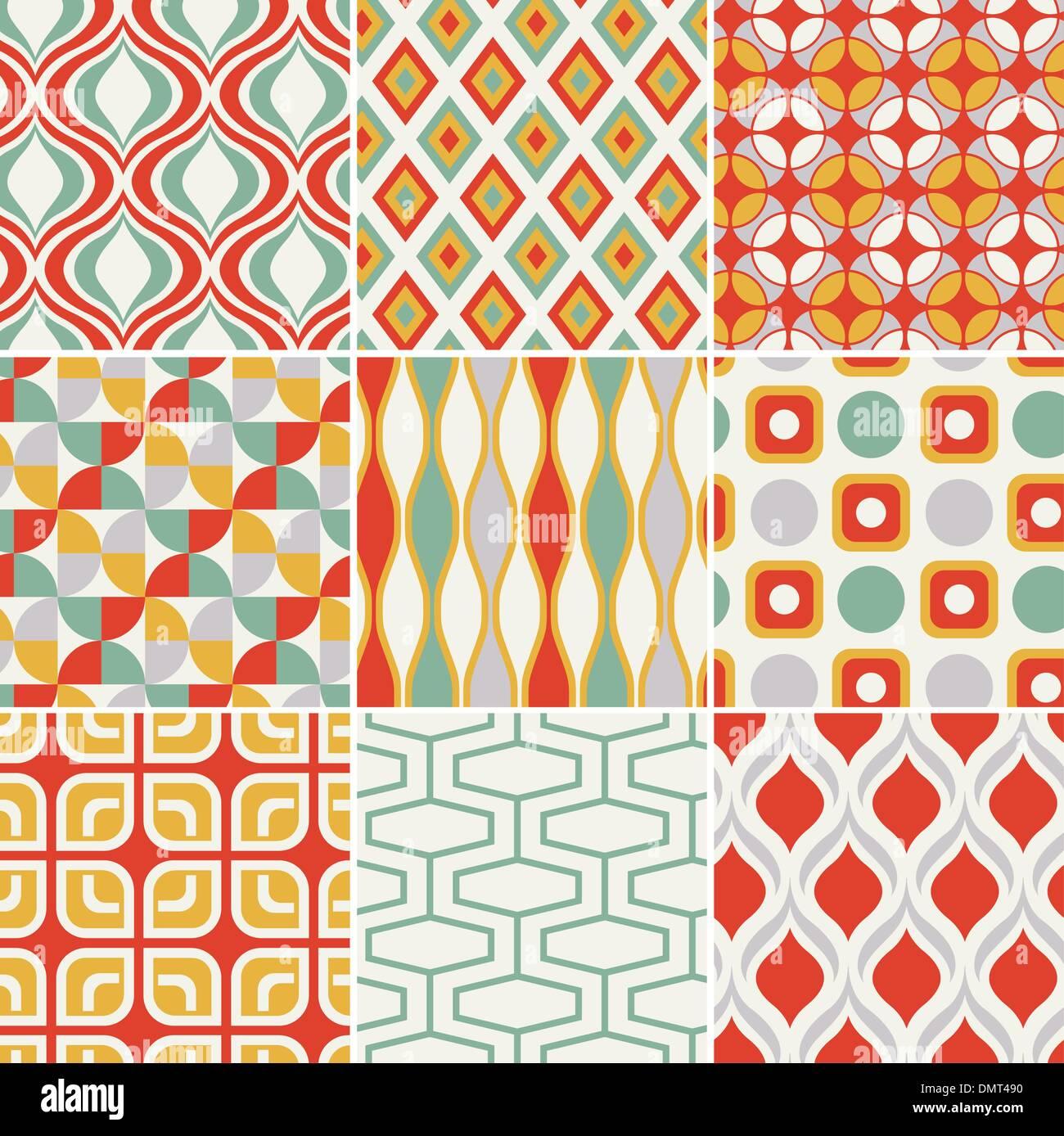 Retro abstract transparente motif géométrique Photo Stock