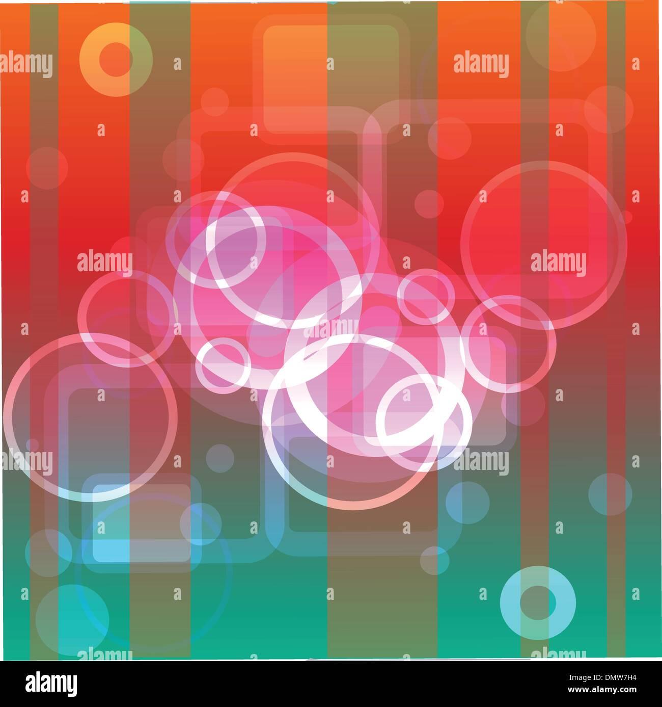 Les cercles et bandes sur fond abstrait Photo Stock