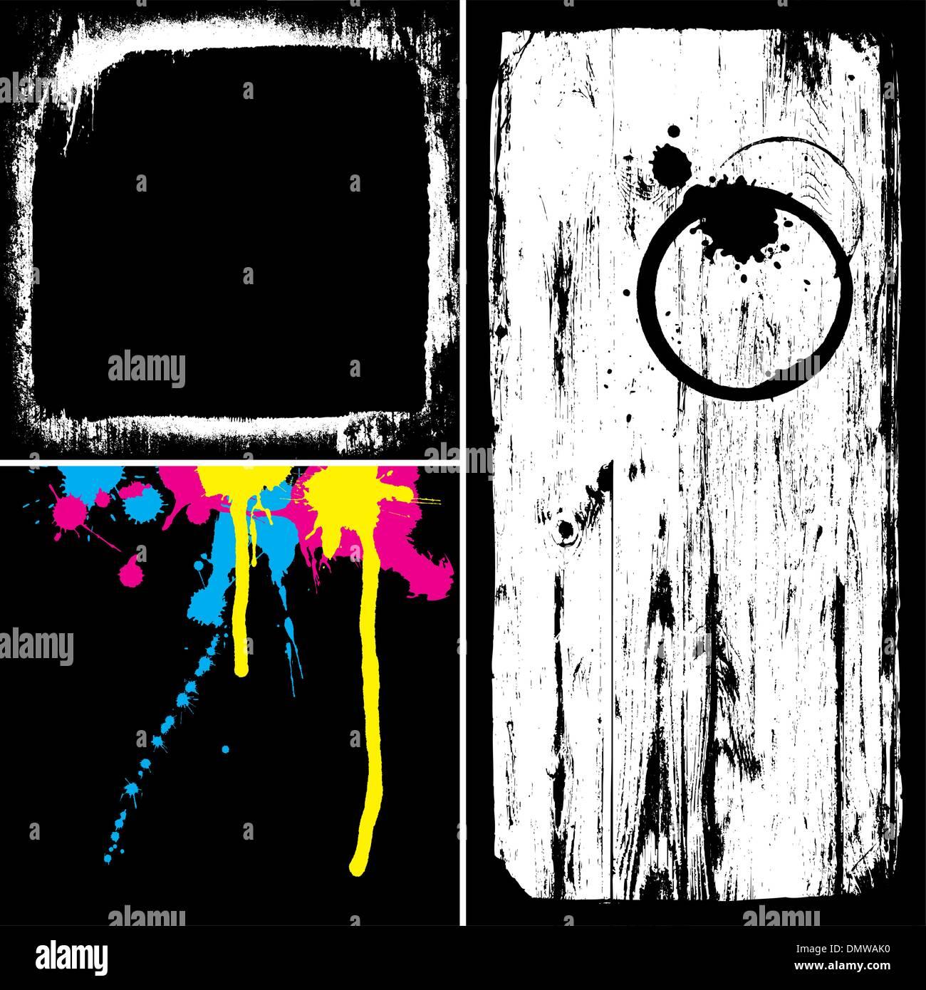Grunge overlays collection. Tous les éléments du vecteur séparément dans e Photo Stock