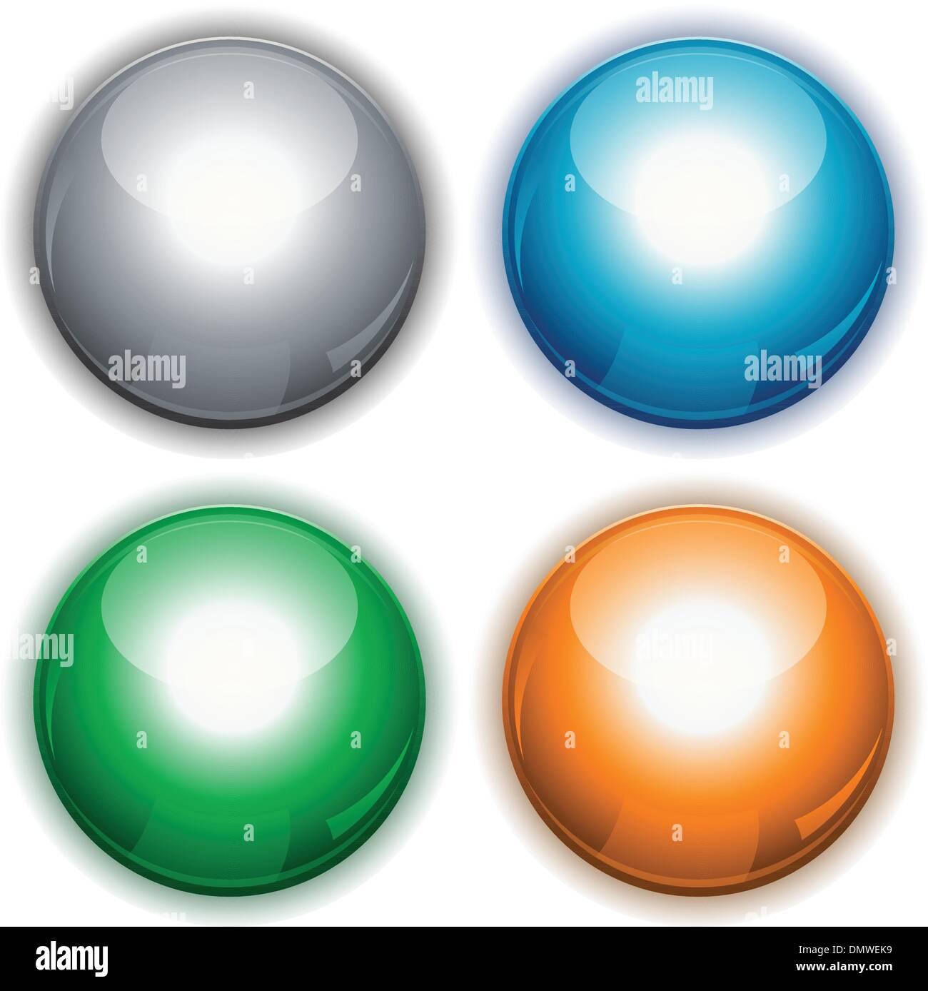 Cercle brillant boutons web Photo Stock