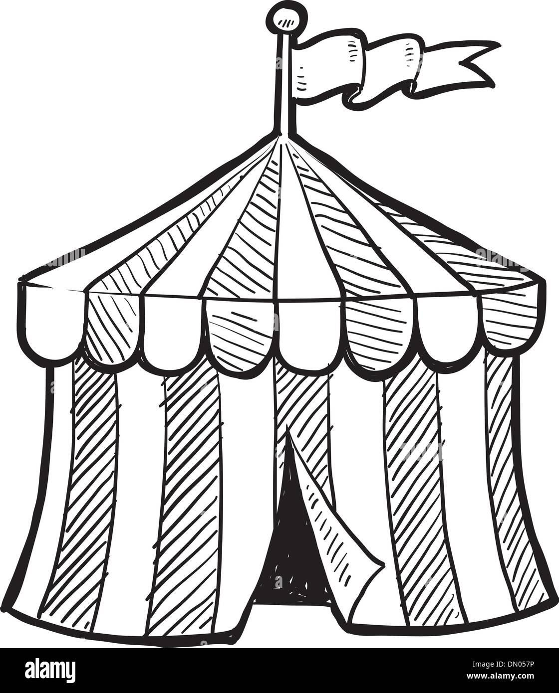 Chapiteau de cirque dessin vectoriel vecteurs et illustration image vectorielle 64543018 alamy - Dessin d un chapiteau de cirque ...