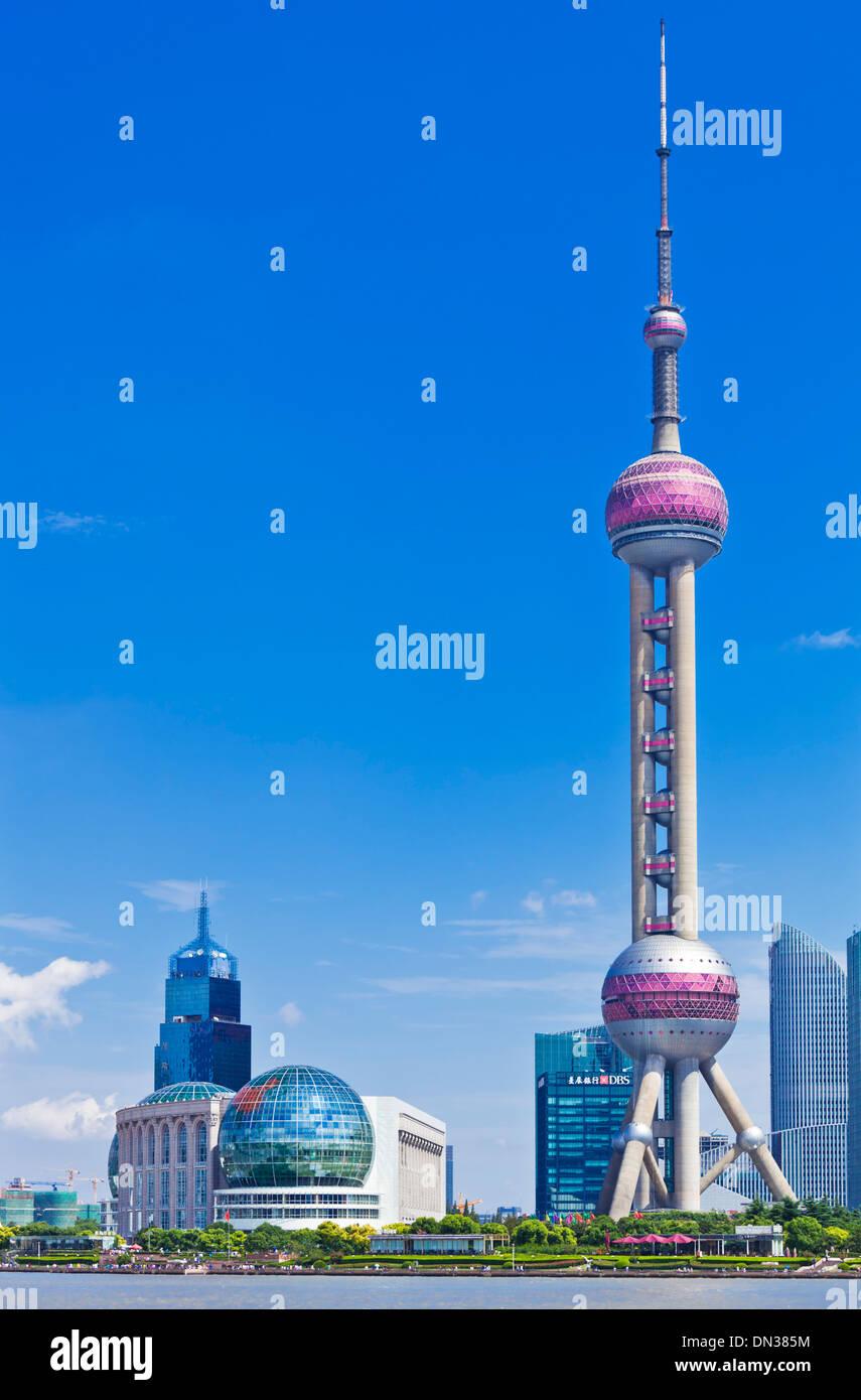 Shanghai Pudong skyline Skyline avec Oriental Pearl de Chine, République populaire de Chine, l'Asie Photo Stock