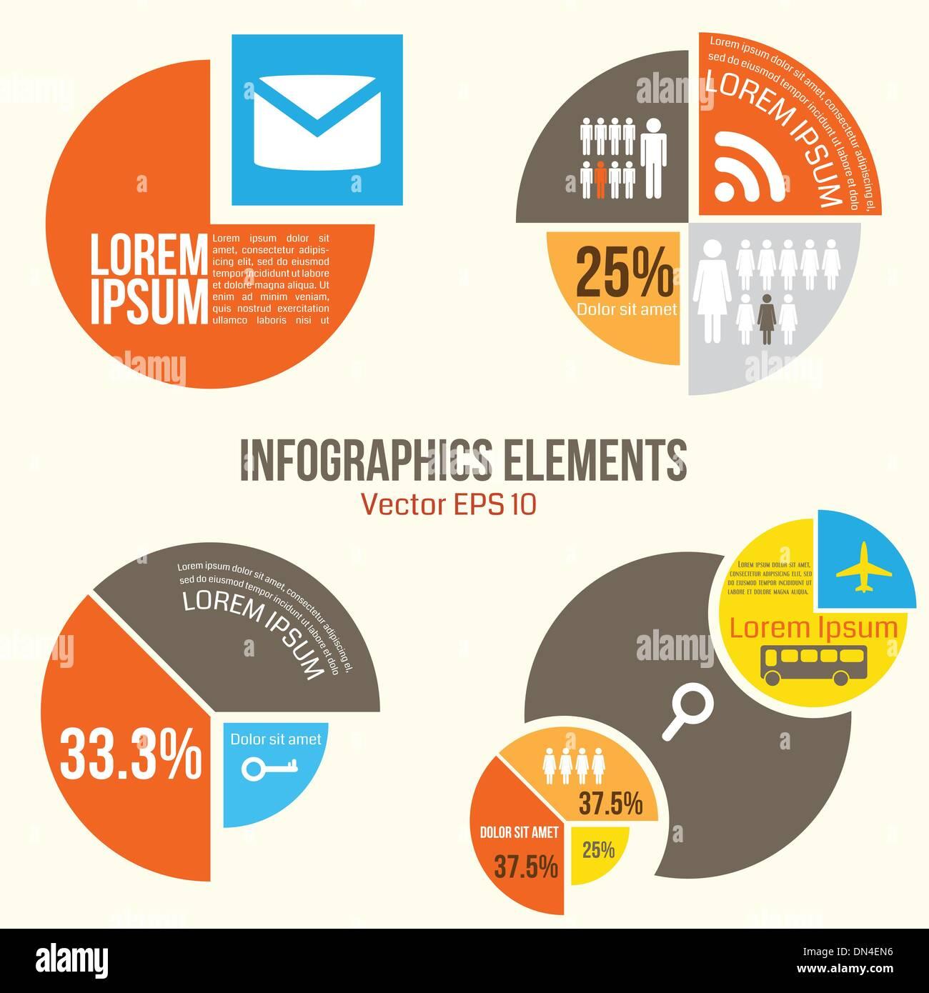 Éléments infographies Illustration de Vecteur