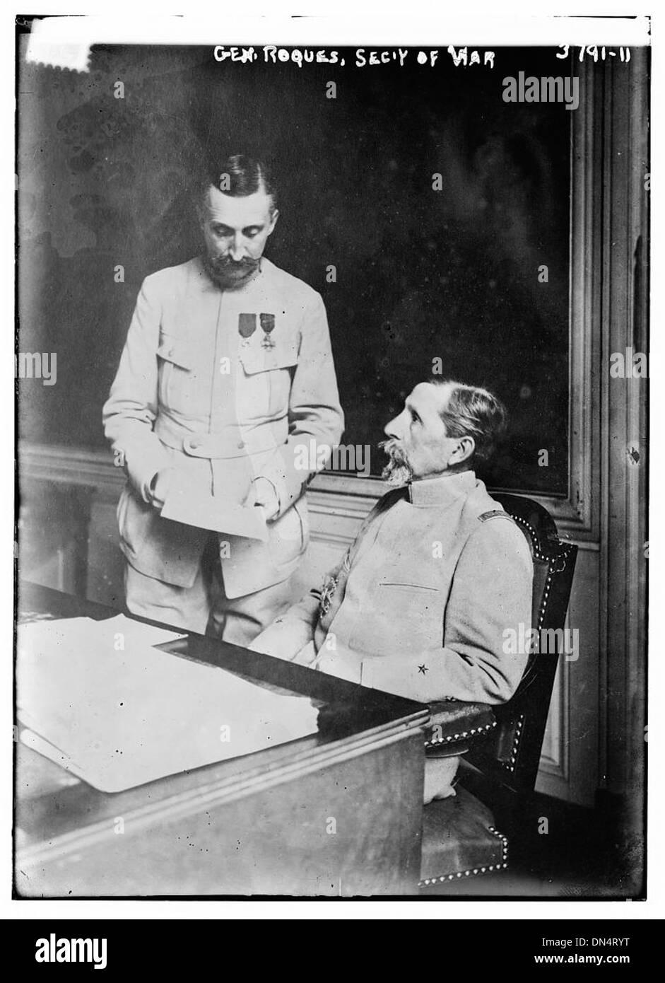 Le général Roques, Sec. de la guerre (LOC) Photo Stock