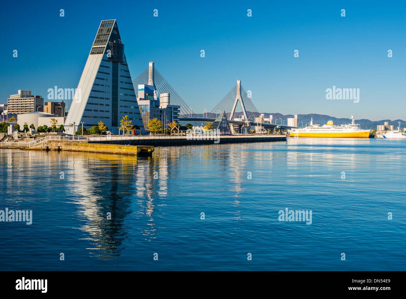 Centre-ville d'Aomori, au Japon. Photo Stock