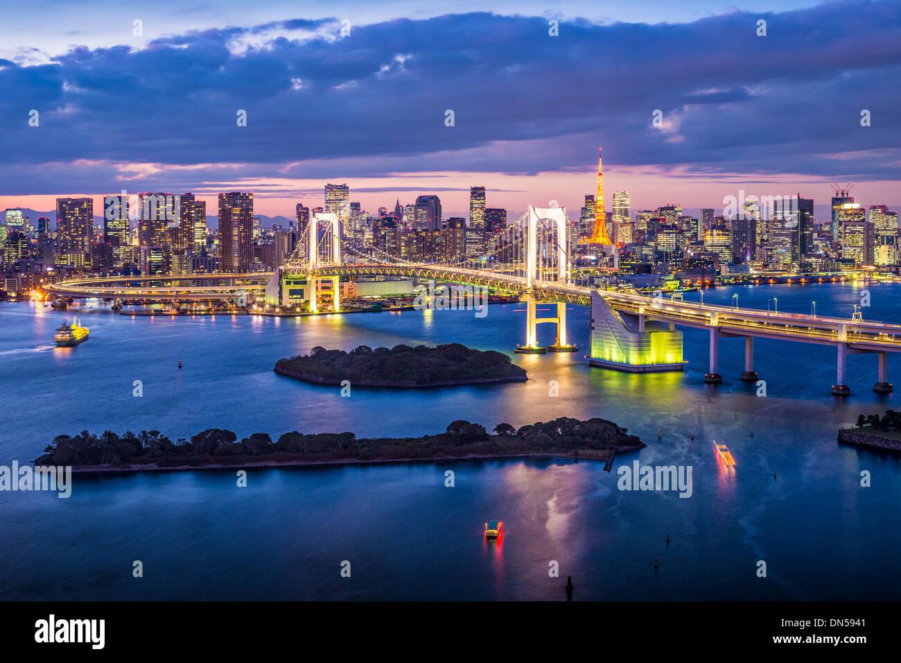 La baie de Tokyo, Japon. Photo Stock