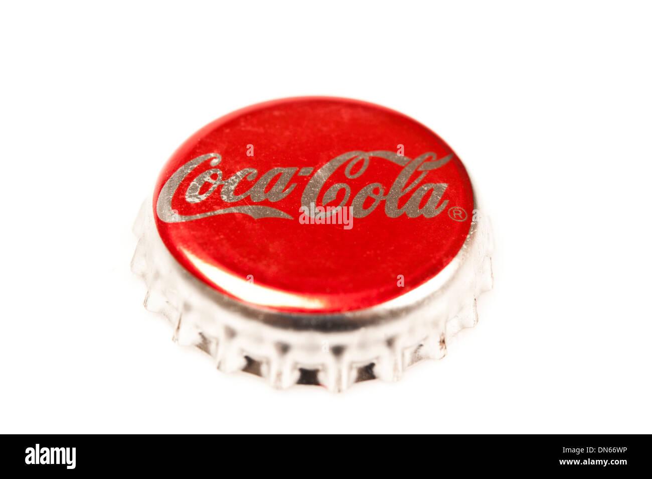 Bouchon de bouteille de Coca Cola Photo Stock