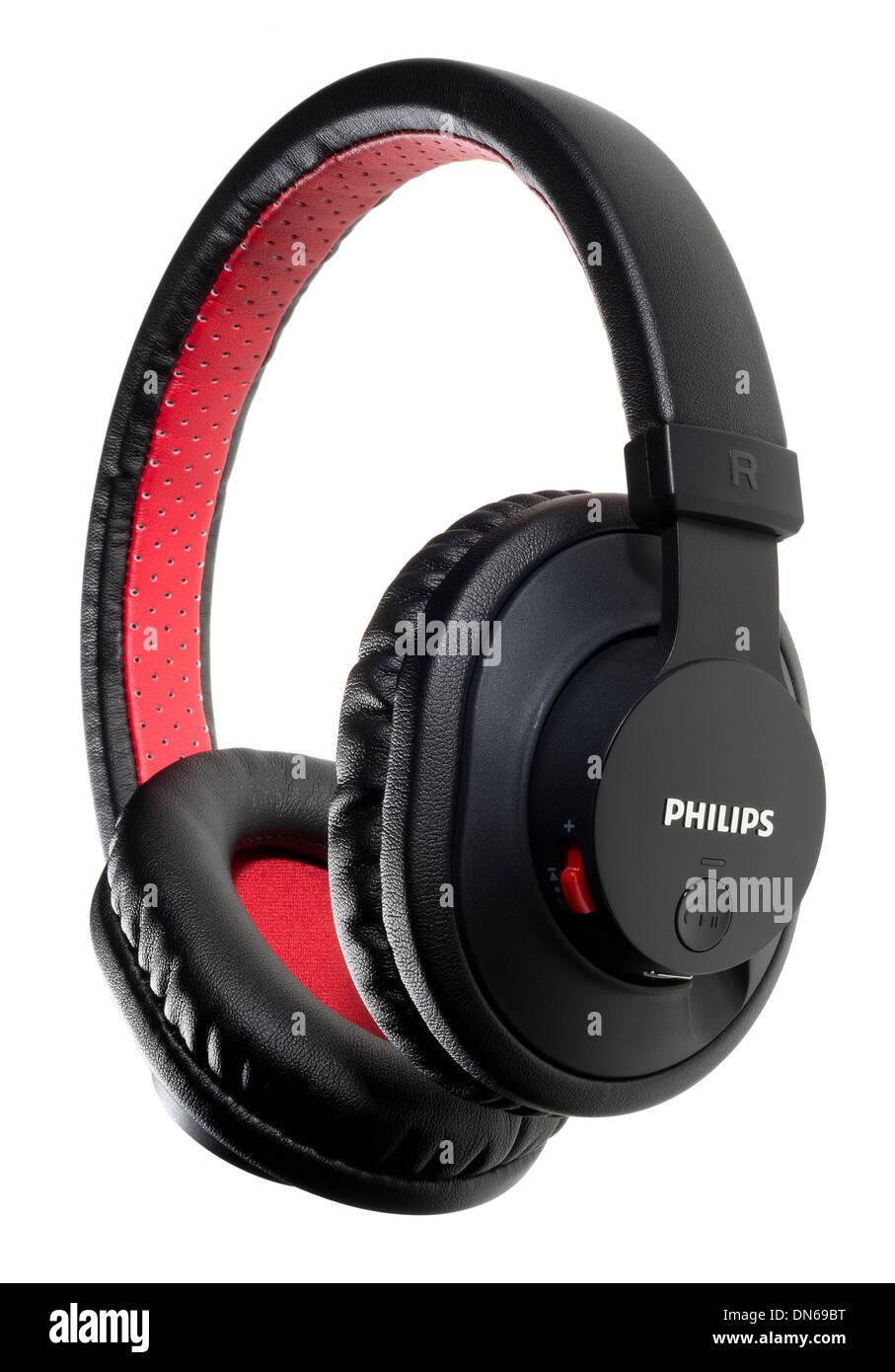 Une paire d'écouteurs Philips Photo Stock