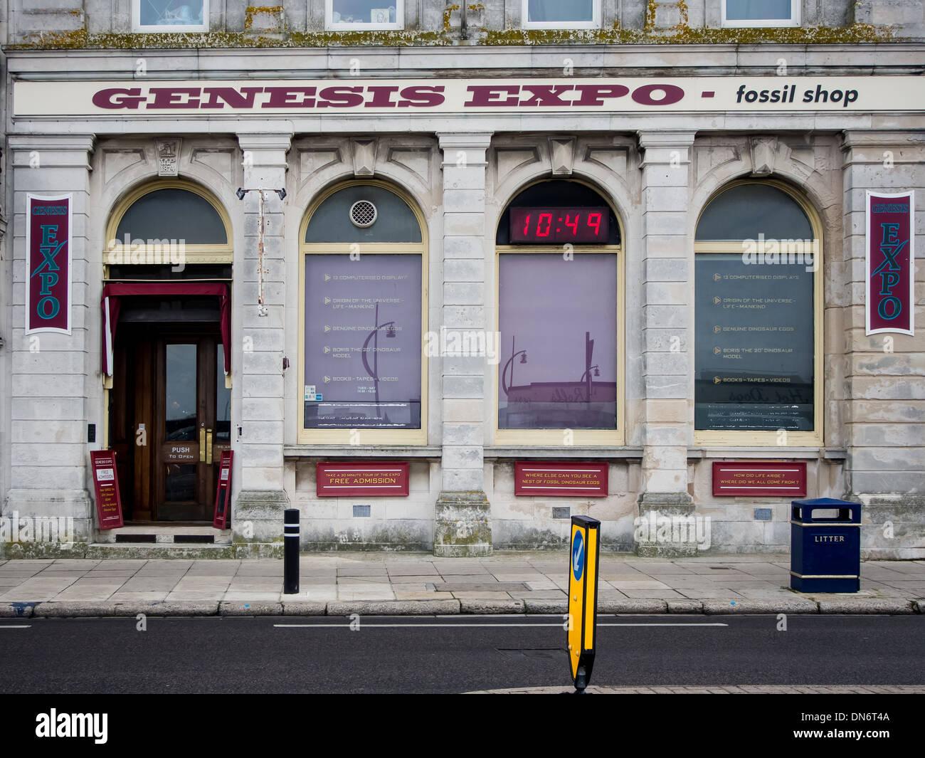 La genèse de l'Expo, le plus grand musée créationniste au Royaume-Uni, à Portsmouth, en Angleterre. Photo Stock