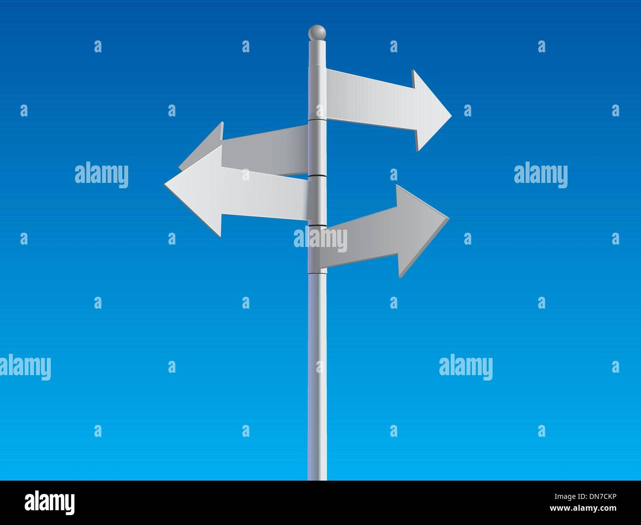signe de carrefour Photo Stock