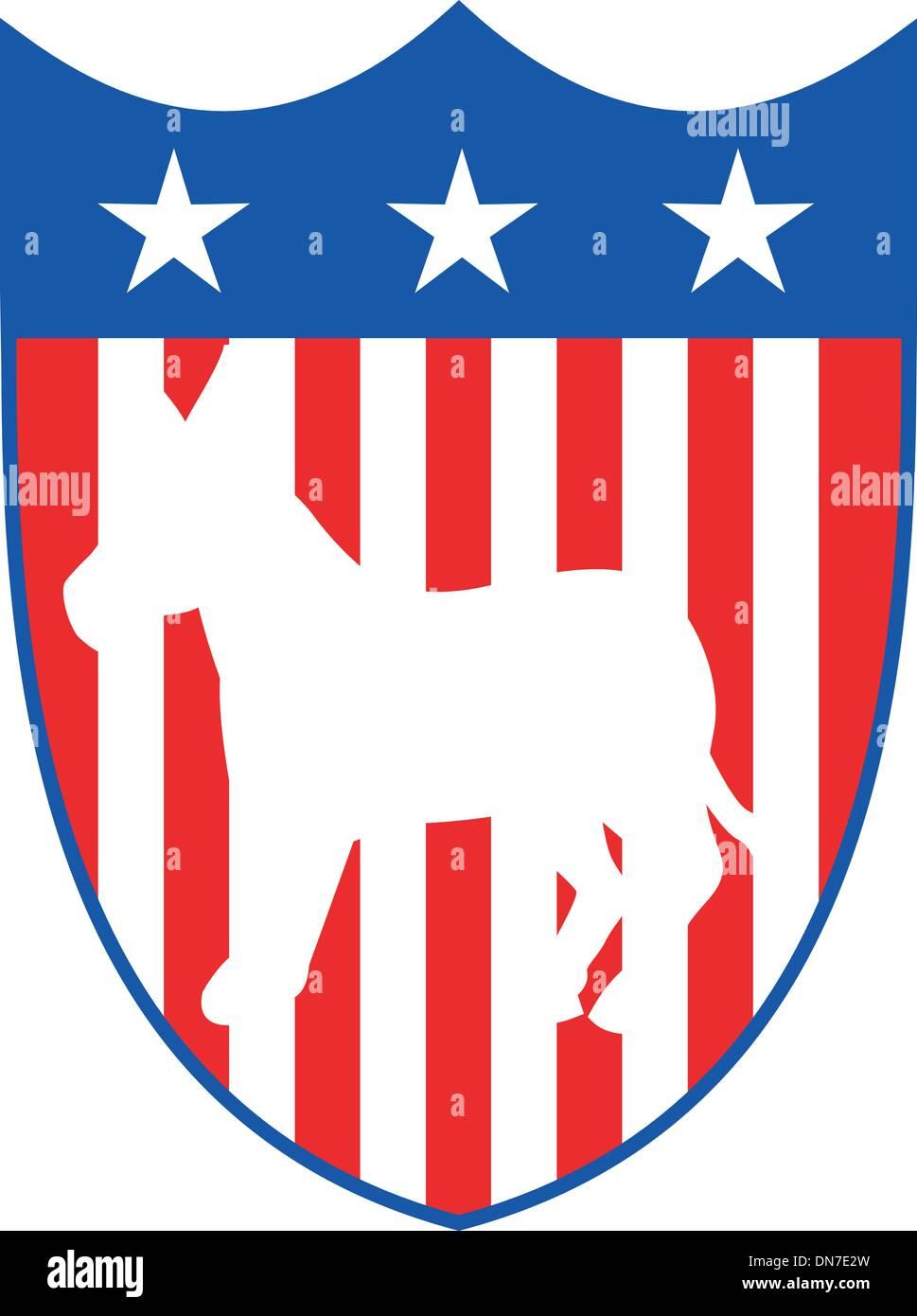 Mascotte âne démocrate Illustration de Vecteur